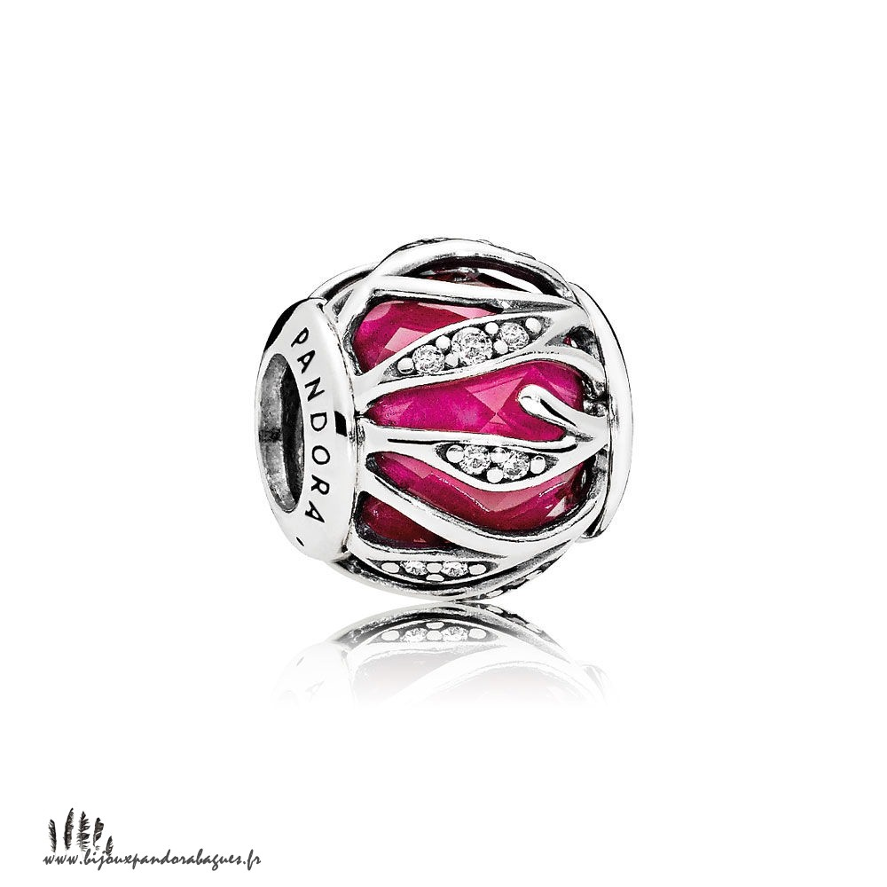 Acheter Marque Pandora Nature Charms Nature'S Radiance Synthetique Ruby Clear Cz