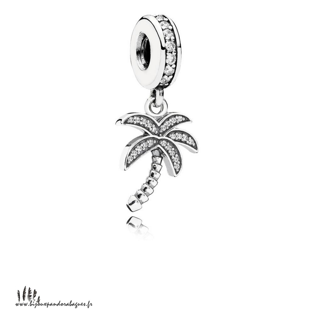Acheter Marque Pandora Pandora Nature Charms Charmant Palmier Dangle Charme Clear Cz
