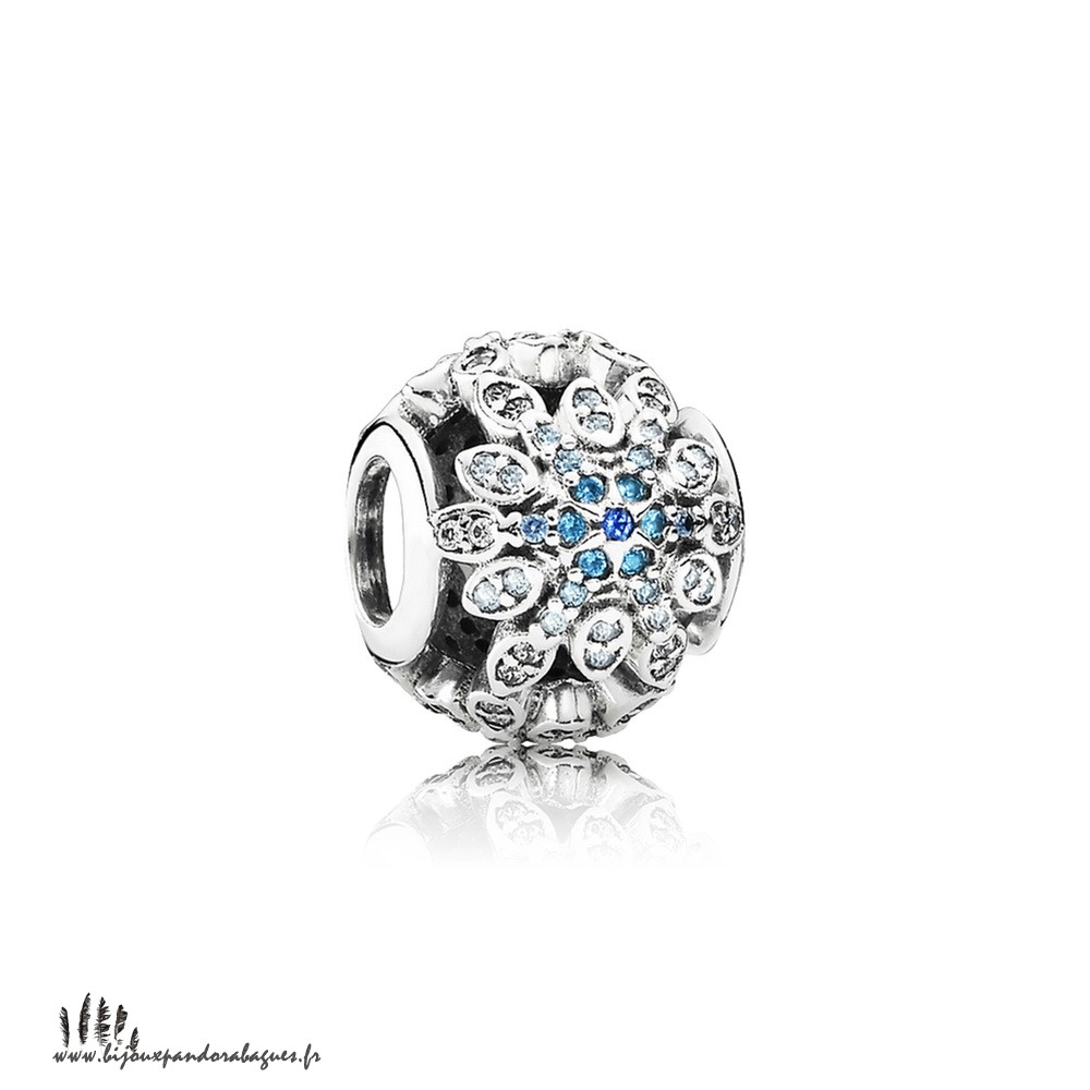 Acheter Marque Pandora Pandora Nature Charms Crystalized Flocons De Neige Charm Blue Crystals Clear Cz